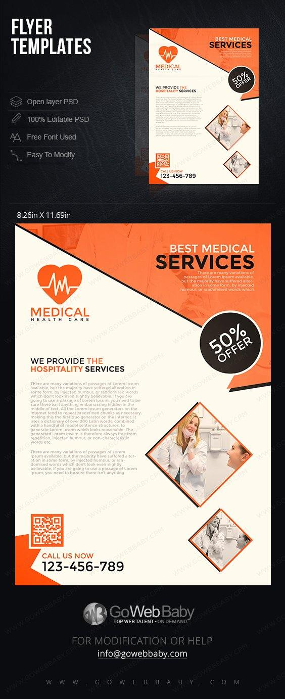 Flyer Templates - Hospitality Services For Website Marketing - GoWebBaby.Com