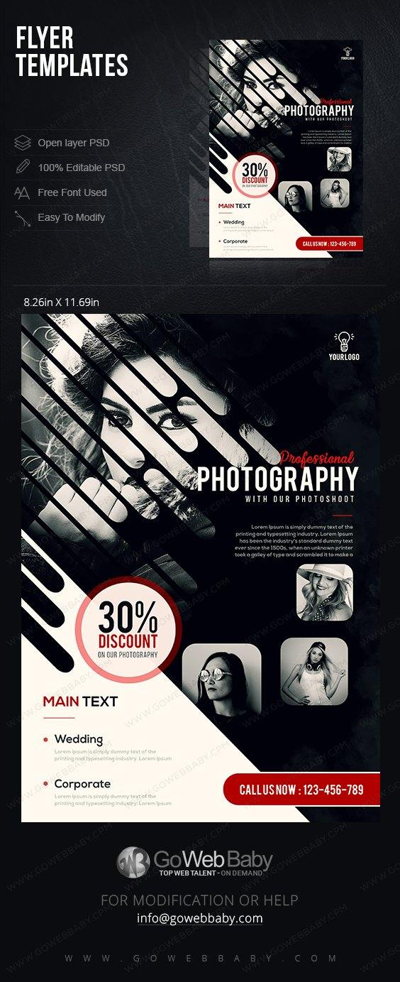 Flyer Templates - Photography For Website Marketing - GoWebBaby.Com