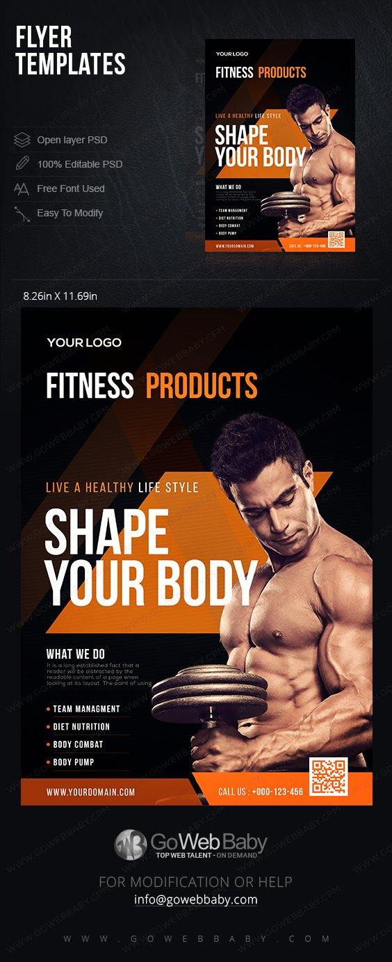 Flyer Templates - Fitness For Website Marketing - GoWebBaby.Com