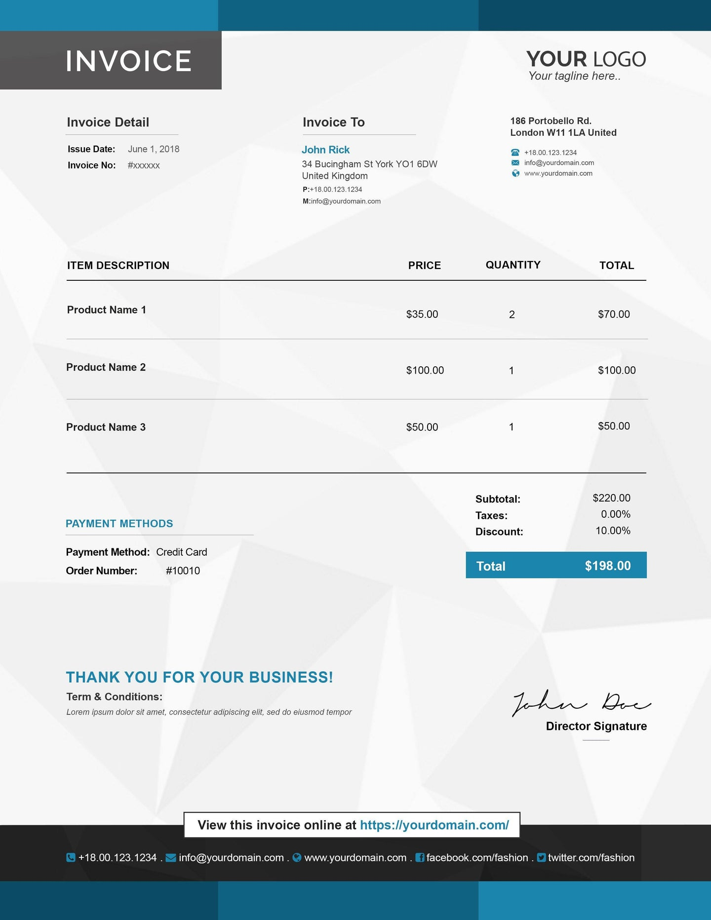 e commerce invoice templates for website marketing gowebbaby com