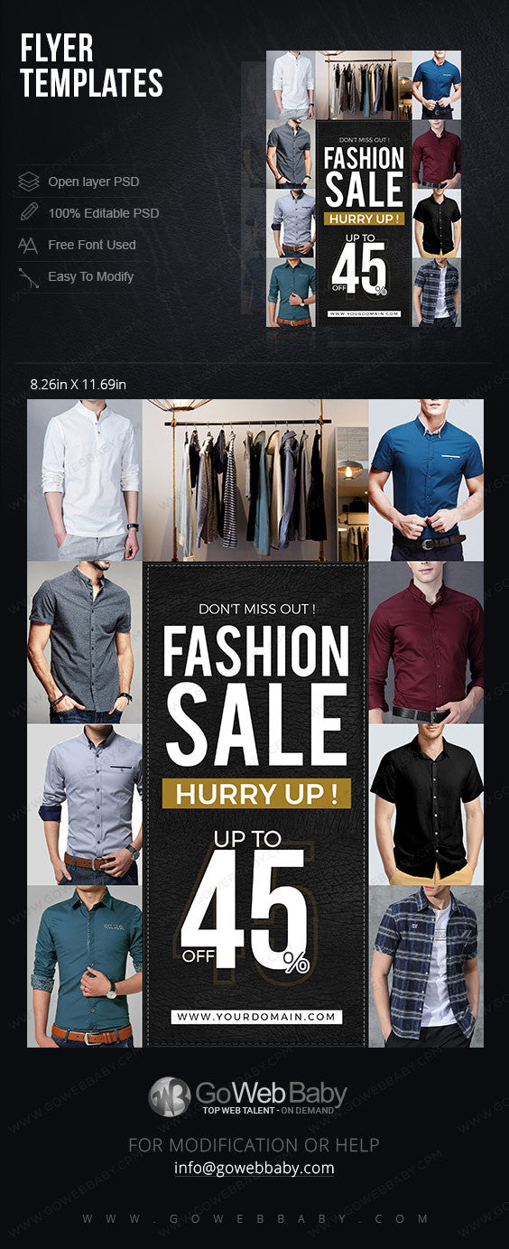Flyer templates - Men's Fashion for website marketing - GoWebBaby.Com