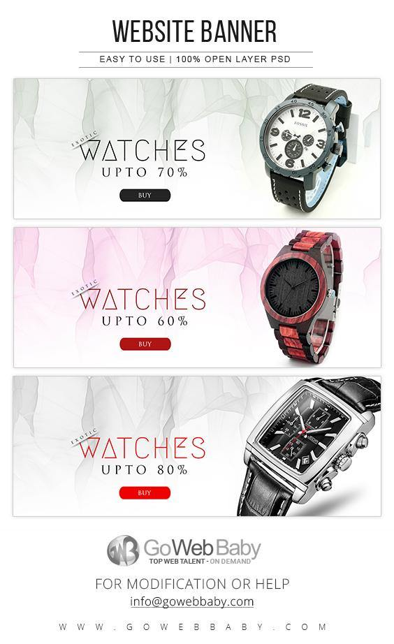 Website Banners - Exotic Men's Watches - GoWebBaby.Com