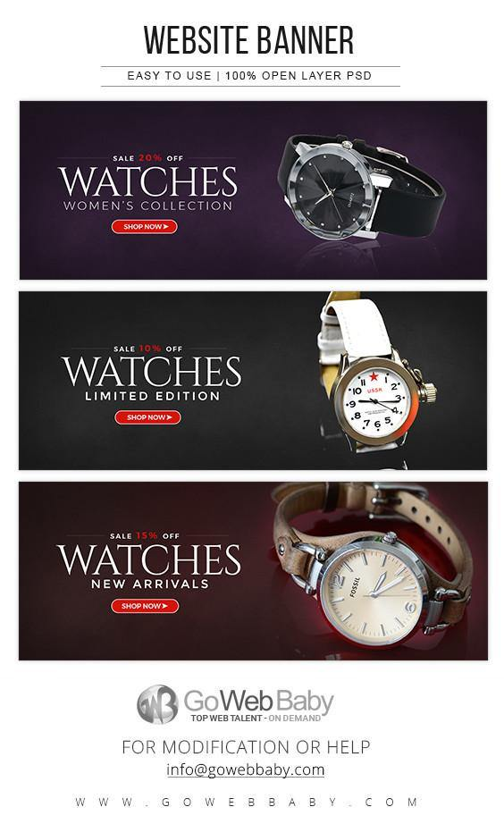 Website Banners - Women Watch Store For Website Marketing - GoWebBaby.Com