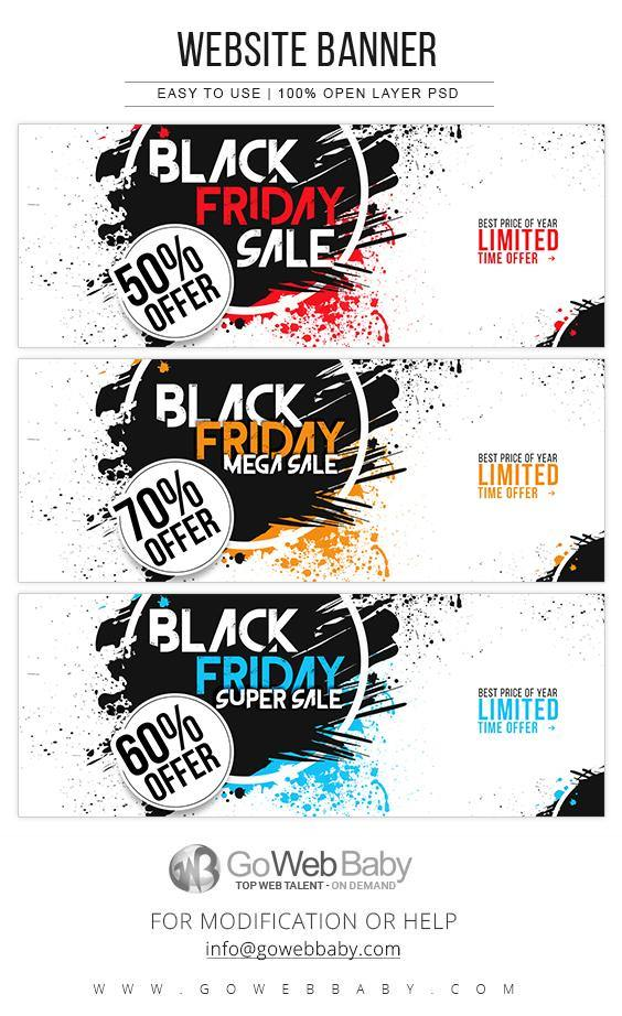Black Friday Sale - Website Banners - GoWebBaby.Com