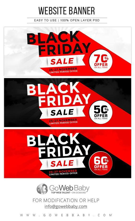 Black Friday Website Banners - GoWebBaby.Com