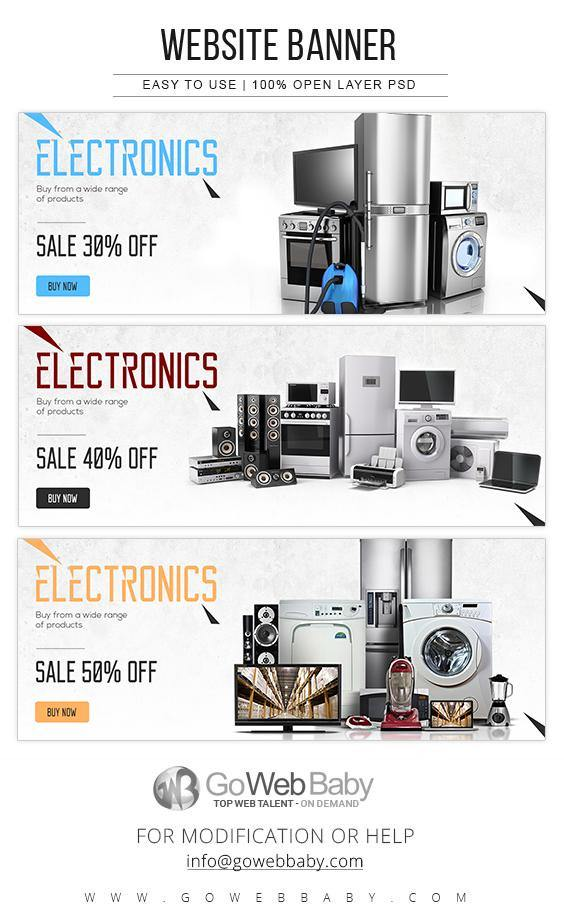 Website Banners - Electronics For Website Marketing