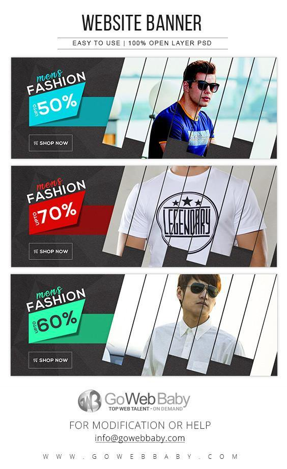 Website Banners - Men's Fashion For Website Marketing - GoWebBaby.Com