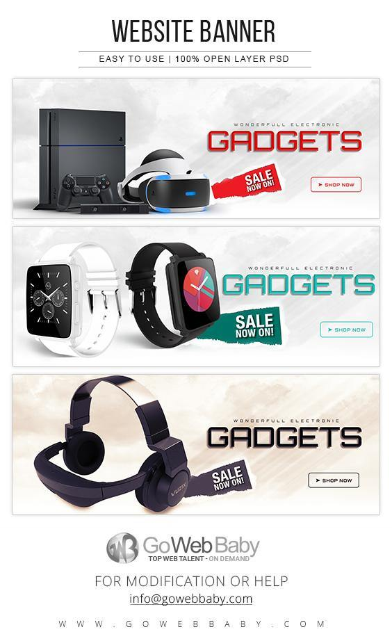 Website Banners - Electronics Gadgets For Website Marketing - GoWebBaby.Com