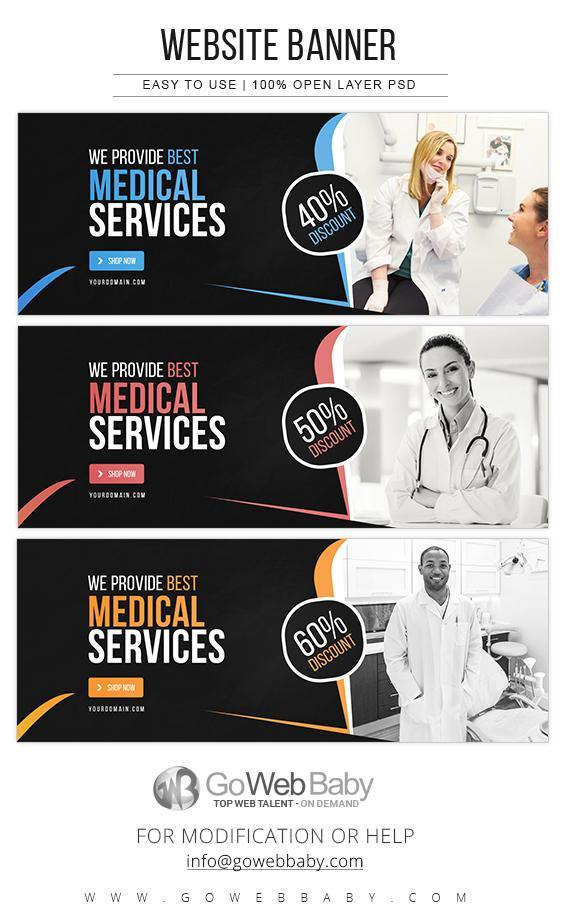 Website Banners - Medical Services For Website Marketing - GoWebBaby.Com
