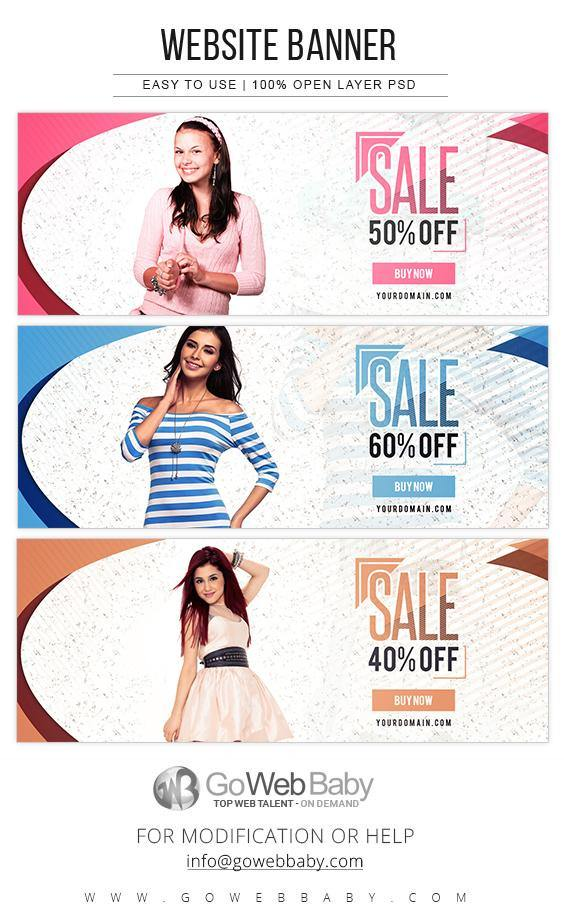 Website Banners - Ecommerce Fashion Store For Website Marketing - GoWebBaby.Com