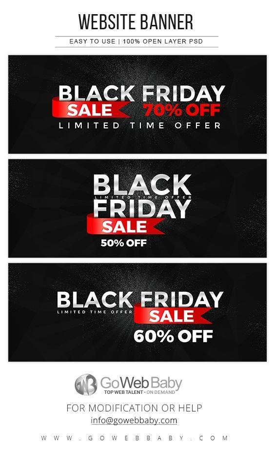 Black Friday Sale Website Banners - GoWebBaby.Com
