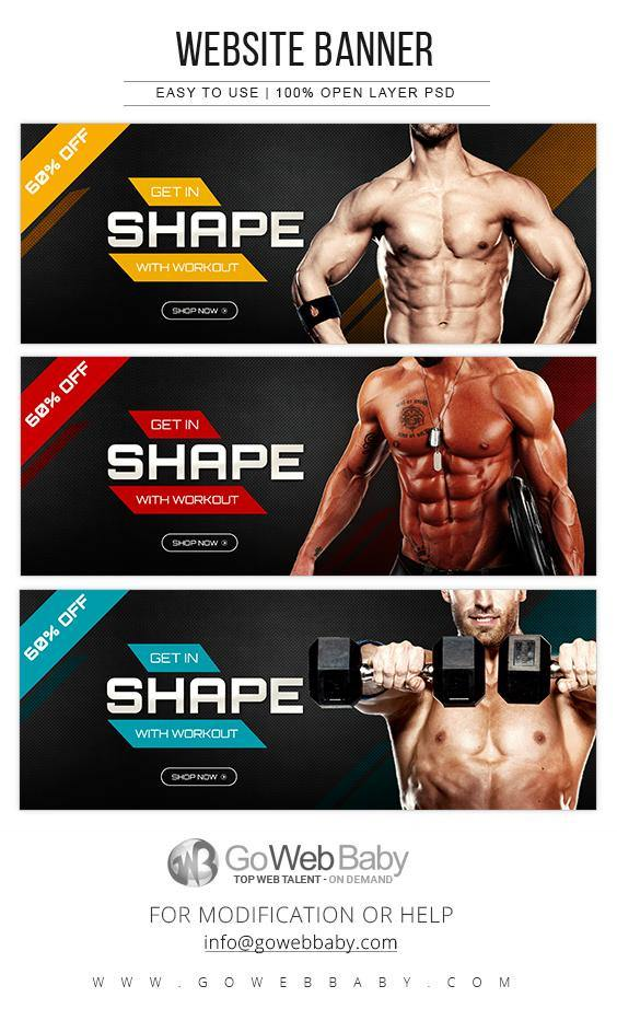 Website Banner - Body Fitness For Website Marketing