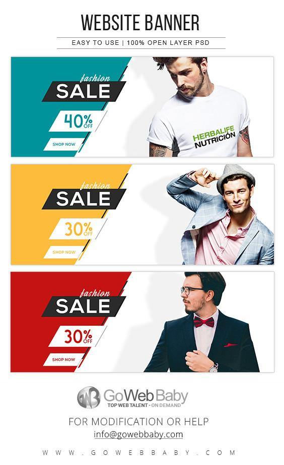 Website Banners - Men's Fashion For Website Marketing