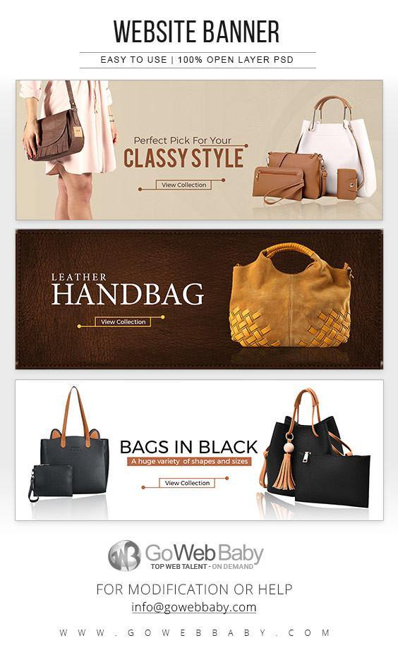 Website Banners - Handbags For Website Marketing