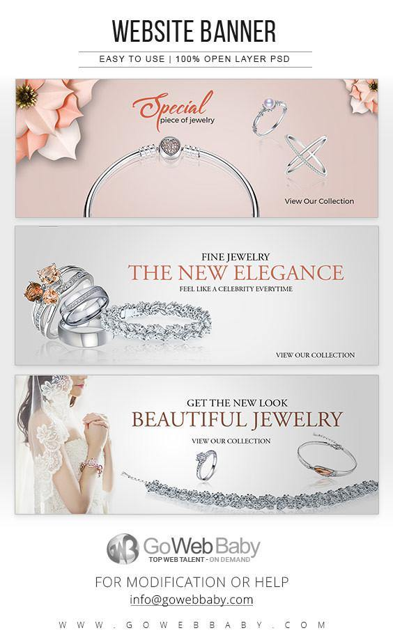 Website Banners - Silver Plated Jewelery For Website Marketing - GoWebBaby.Com