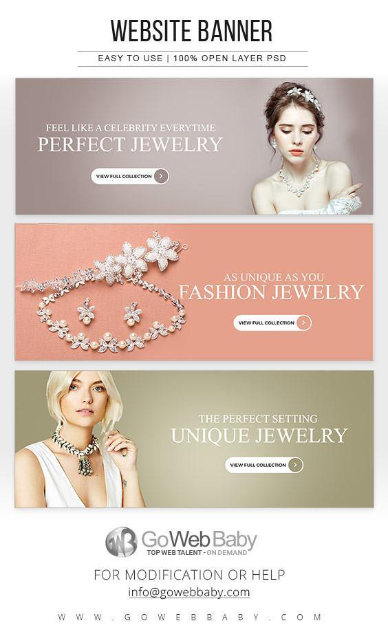 Website Banners - Unique Jewelery For Website Marketing - GoWebBaby.Com