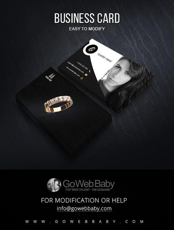 Business card for fashion Jewelry - GoWebBaby.Com
