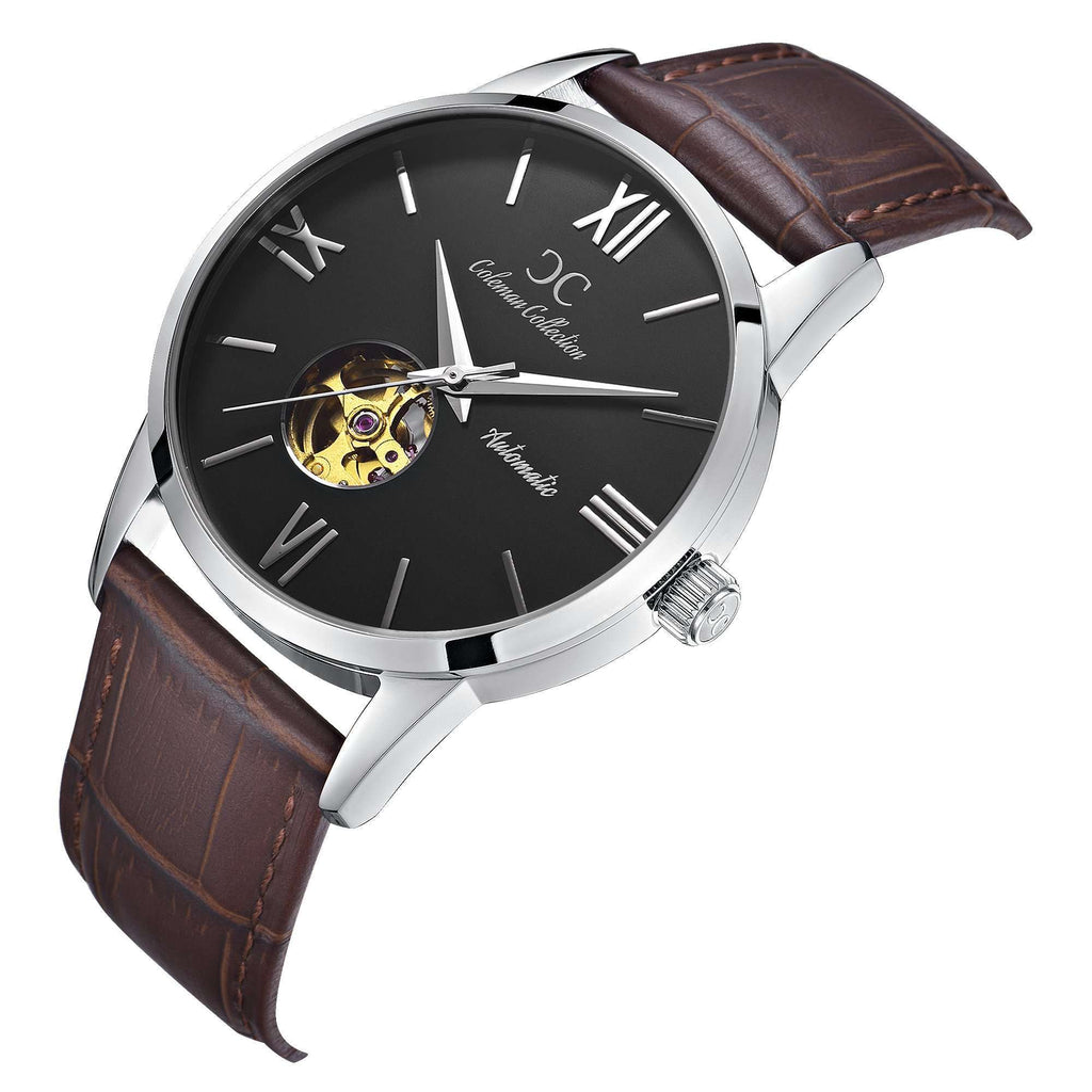 Coleman Collection Watches, Open-Heart, OPEN HEART - BLACK & BROWN Side View