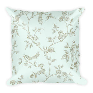 Duck Egg Blue Square Pillow
