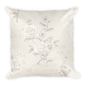 Shabby Chic Cream Pillow
