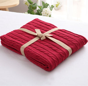 Scarlet Luxury Spring Blanket