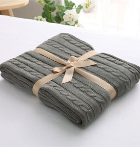 Slate Grey Luxury Spring Blanket
