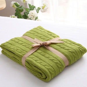 Moss Pastel Green Luxury Spring Blanket