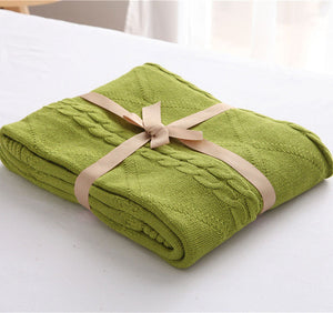 Olive green Luxury Spring Blanket