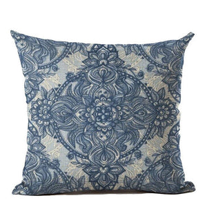 Vintage Navy Blue Nordic Cushion Cover