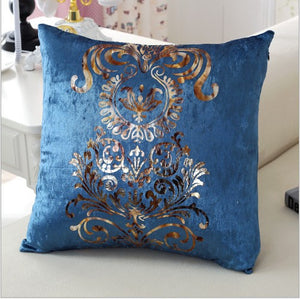 Luxurious Royal Blue Pillow Cover