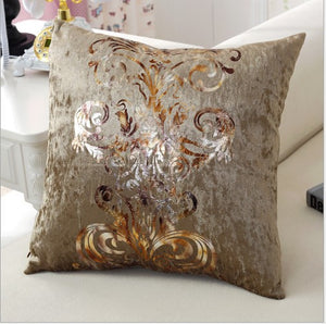 Luxurious Brown Pillow Cover
