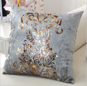 Luxurious Ash Grey Pillow Cover