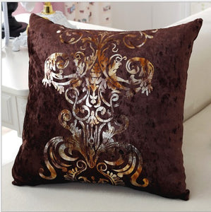 Luxurious Chocolate Brown Pillow Cover