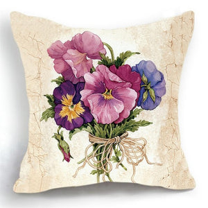 Luxury Floral Purple Cushion Cover