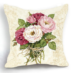 Luxury Floral Pink Cushion Cover