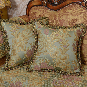 Olive Jaquard Luxury Cushion Cover