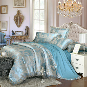 Royal Duck Egg Blue Bedding Set