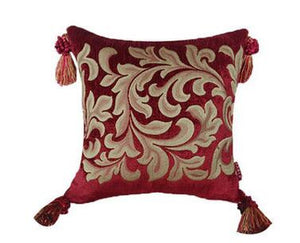 Scarlet Luxury Jacquard Pillow