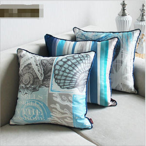 Mediterranean Blue Nautical Luxury Decorative Cushions