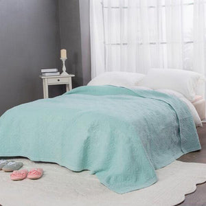 Sea Green Stone Wash Quilted Matelasse Bedspread