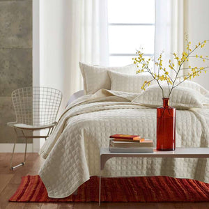 Cream Matelasse Quilted Bedding Set