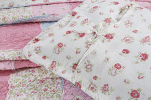 Pink Matelasse Quilted Ditsy Patchwork Bed Set