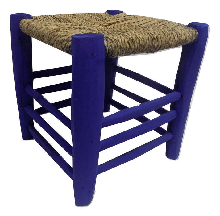 Small Moroccan Garden wooden stool