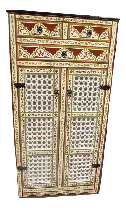 Hand painted Moroccan Handmade Cabinet beige color