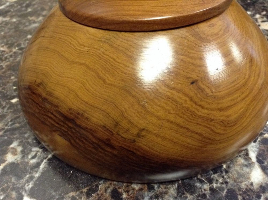 Moroccan Exotic Burlwood Thuya Wood Decor Centerpiece Lidded Canister Trinket 5