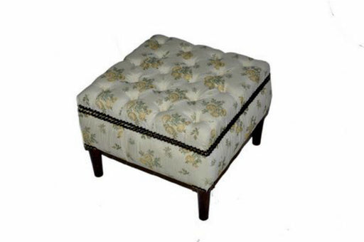 Ottoman Pouf Low Seat Chair Small Storage Classic Footstool
