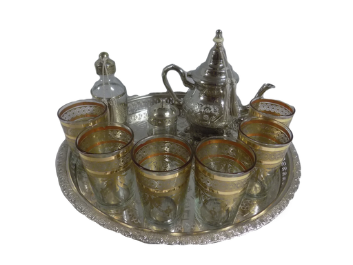 Gold Moroccan Tea Glass Set