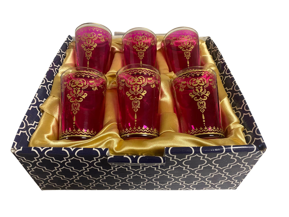 Pink Moroccan Tea Glasses Set