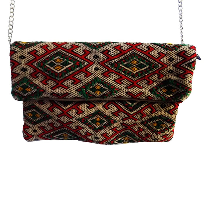 Moroccan Bag and Purse Hand Made Carved Leather Clutch Tote Wallet Bag
