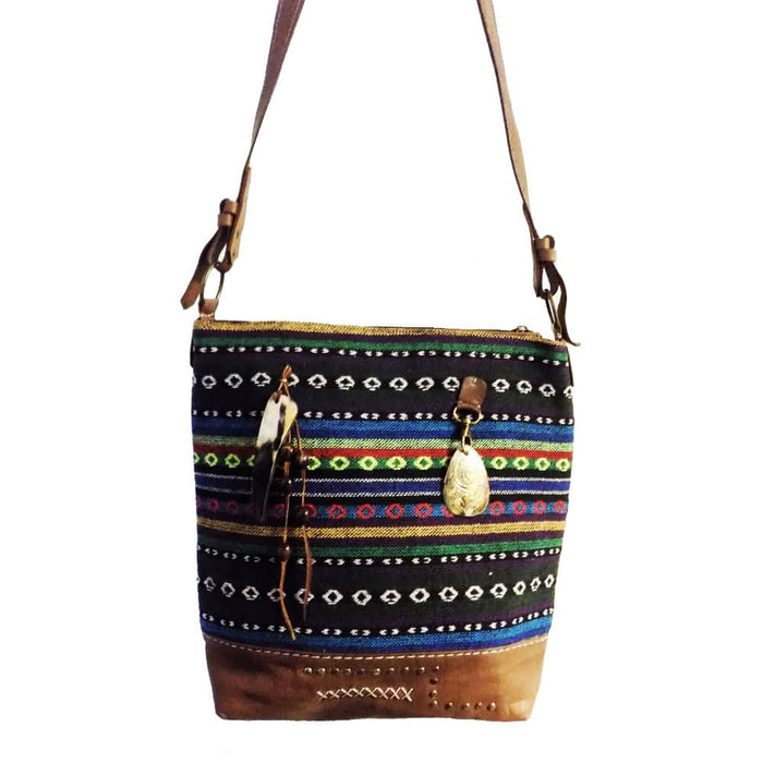 Moroccan Bag and Purse Hand Made Leather Shoulder Bag Multicolor